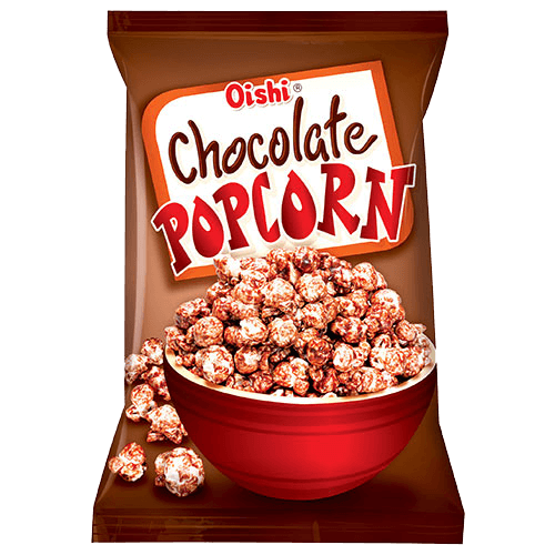 Caramel Popcorn With Peanuts And Chocolate